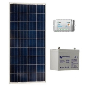 Kit solaire SITE ISOLE 80Wc Polycristallin - 12V