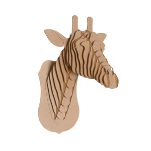 Tête de Girafe en Carton Recyclé - Taille L - CARDBOARD SAFARI