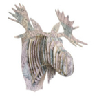 Tête Élan en Carton Recyclé Londres - Taille M - CARDBOARD SAFARI