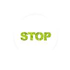 Tableau végétal Micro Picto MAGNET Stop diam 10cm - FLOWERBOX