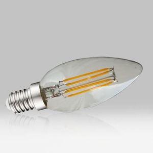 Ampoule LED 4W COB Flamme Filament E14 2700K Blanc Chaud - VISION-EI