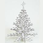 Arbre de Noel en Carton Recyclé Blanc 25x 36cm - CARDBOARD SAFARI