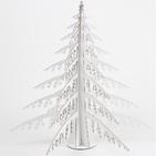 Sapin de Noel en Carton Recyclé Blanc - 56 x 56 x 56 cm - CARDBOARD SAFARI