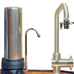 Filtre INOX sur évier avec une cartouche XM - HYDROPURE TECI