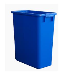 Poubelle de tri rectangulaire 60 Litres bleue sans couvercle