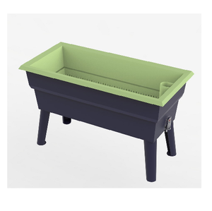 Jardinière Calipso MINI  40L gris/turquoise
