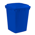 Poubelle de tri  bleue rectangulaire 90 litres sans couvercle