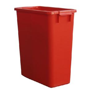 Poubelle de tri rectangulaire 60 Litres rouge sans couvercle