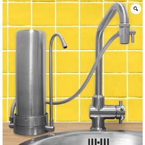 Filtre sur Evier Hydropure Inox - 100% - cartouche XM